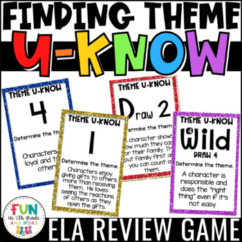 Theme Game for Literacy Centers: Finding Theme
