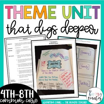 Theme Unit, Character Traits Unit, Genre Unit Bundle for Middle Grades