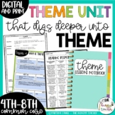 Theme Unit for Upper Elementary and Middle School {4th, 5th, 6th, 7th, 8th CCSS}