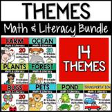 Theme Units Math & Literacy Pre-K, Preschool BUNDLE