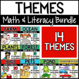 Theme Units Math & Literacy Pre-K, Preschool BUNDLE