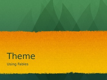 Theme Using Fables
