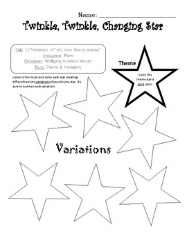 Theme & Variations Worksheet