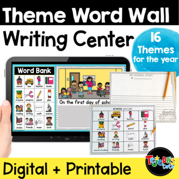 Theme Word Wall Writing Pack
