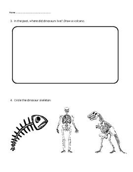 Theme Worksheet - Dinosaurs