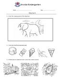 Theme Worksheet - Elephant