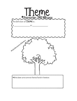 Theme Worksheet / Interactive Notebook