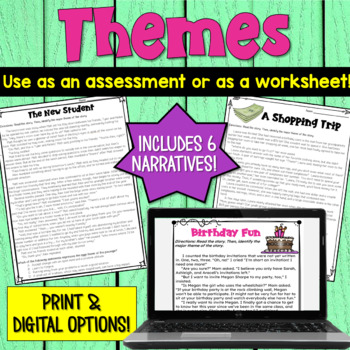 Themes in Literature Worksheets by Deb Hanson | Teachers Pay Teachers