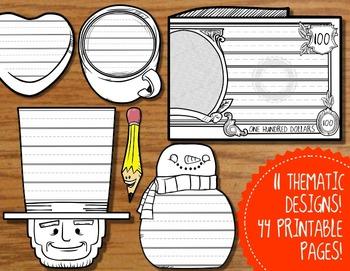 Theme Writing Paper -- January, February, Winter