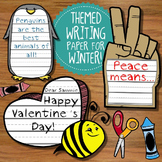 Theme Writing Paper -- January, February, Winter