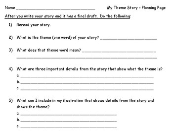 Theme Writing Project Pages