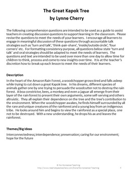 Theme and Accountable Talk: The Great Kapok Tree