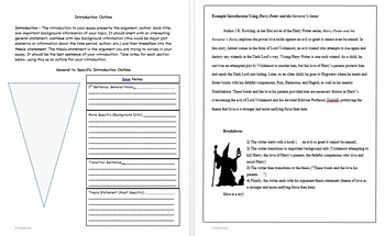 Theme and Character Analysis Essays - Outlines, Brainstorming, Samples