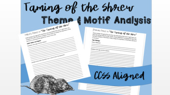 Theme and Motif Analysis - Taming of the Shrew
