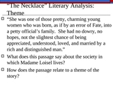 """Theme and POV with """"The Necklace"""" and """"Gift of the Magi"""""""