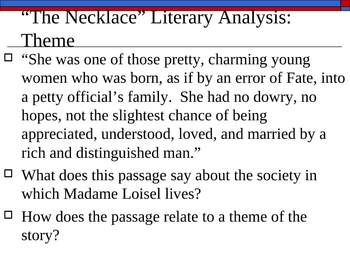 "Theme and POV with ""The Necklace"" and ""Gift of the Magi"""