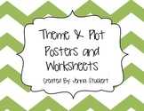 Theme and Plot Reading Posters and Practice Worksheets