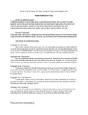 Senior Reflective Essay Assignment and Rubric