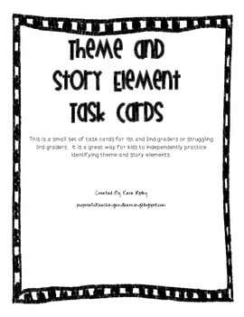 Theme and Story Element Task Cards