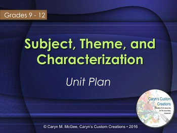 Subject, Theme, and Characterization Analysis