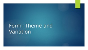 Theme and Variation- Hot Cross Buns Powerpoint