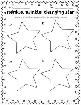 Theme and Variation, Star Activity