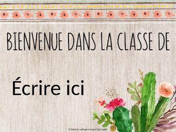 Thème boho : Bienvenue dans la classe de...