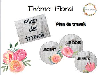 Thème floral: plan de travail