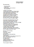 Theme for English B by Langston Hughes - Lessons, Analysis, & Writing