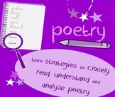 """Introduction to poetry lesson: guided analysis of """"Theme for English B"""""""