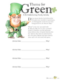 Theme for Green: A St. Patrick's Day Poetry Activity