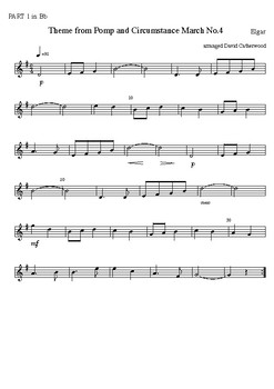 Theme from Pomp and Circumstance March No. 4 by Elgar arranged David Catherwood