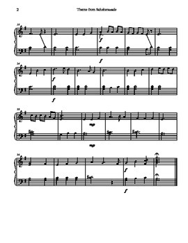 Theme from Scheherazade for Tone Chime/ Choir Chimes
