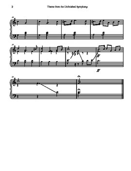 Theme from the Unfinished Symphony for Tone Chimes/ Choir Chimes