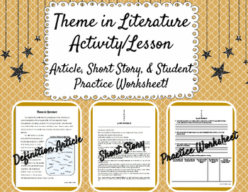 Theme in Literature Activity