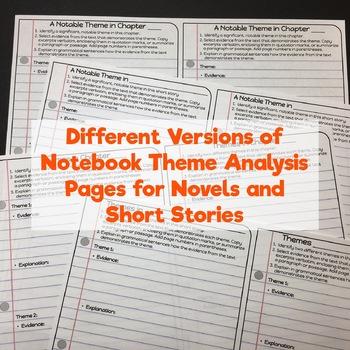 "Theme in Literature Interactive Notebook - ""Mini-Binder"" - Middle & High School"