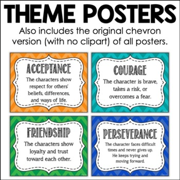 Theme in Literature Posters - 9 Common Themes