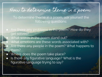 Theme in Poetry - Slides Instruction and Docs Guided Notes