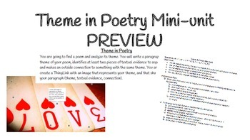 Theme in Poetry mini-unit