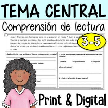 Central Theme in Spanish - Tema central
