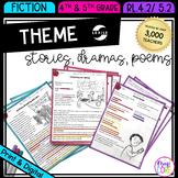 Theme in Stories Plays & Poems - RL.4.2 & RL.5.2 - Print & Digital - RL4.2 RL5.2