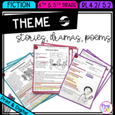 Theme in Stories Plays & Poems - RL.4.2 & RL.5.2 - Print &