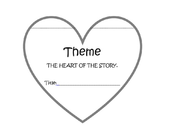 Theme is the heart of the story FREEBIE foldable