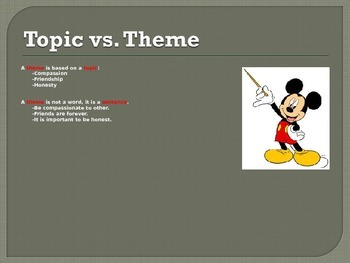 Theme lesson using Disney