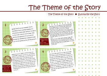 Theme of the Story, task cards