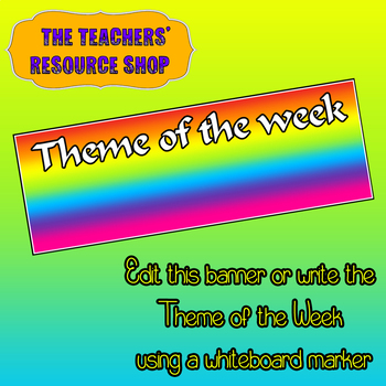 Theme of the Week Banner