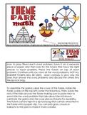 Theme park math. Money word problems.