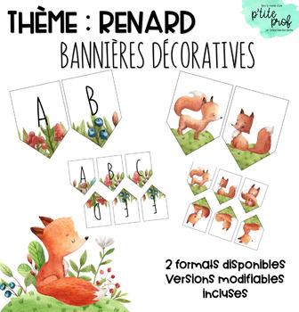 Thème renard : Bannières décoratives