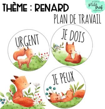 Thème renard : Plan de travail