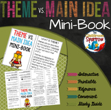 Theme vs. Main Idea Interactive Notebook Mini Book